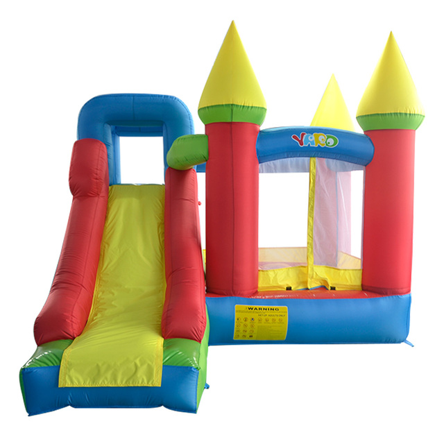 YARD Trampoline Bouncer Castle House With Slides Children's Trampoline Inflatable Games Toys Jumpling Castle Blower Free Balls