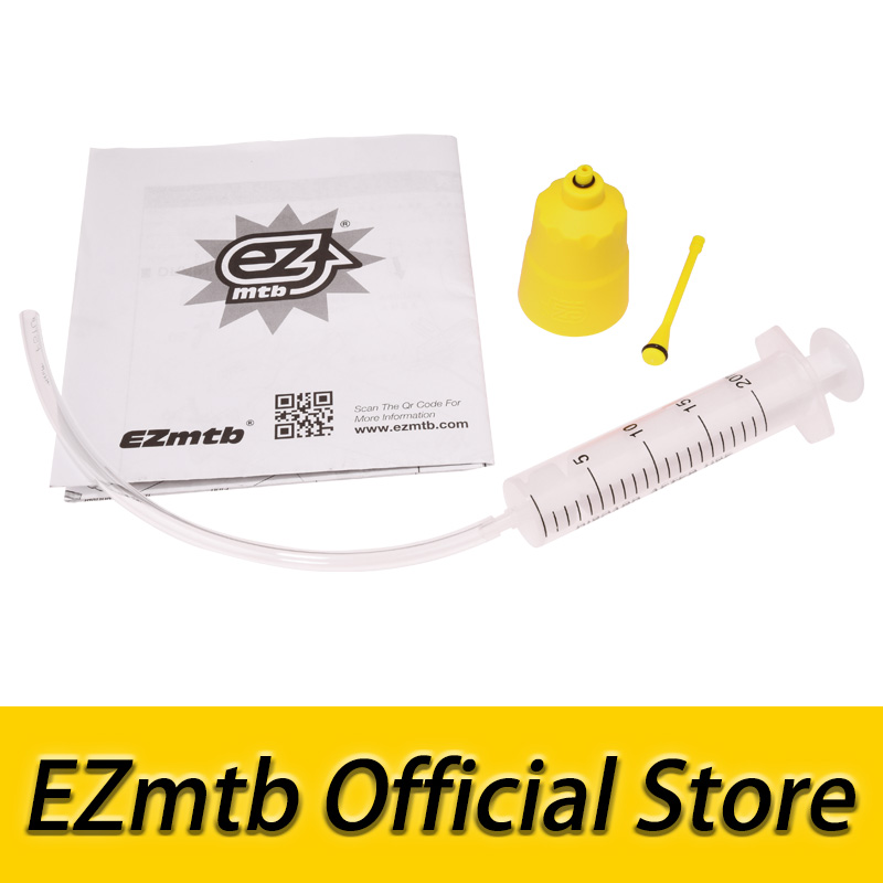 free shiping 2018 newest ezmtb bleed kit Funnel / Oil Stopper for shimano bicycle disc brake цена