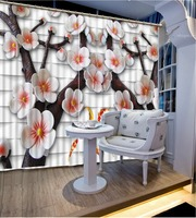 Curtain Design Curtains For Bedroom Plaid Background Embossed Plum Home Bedroom Decoration Blackout Curtain Fabric