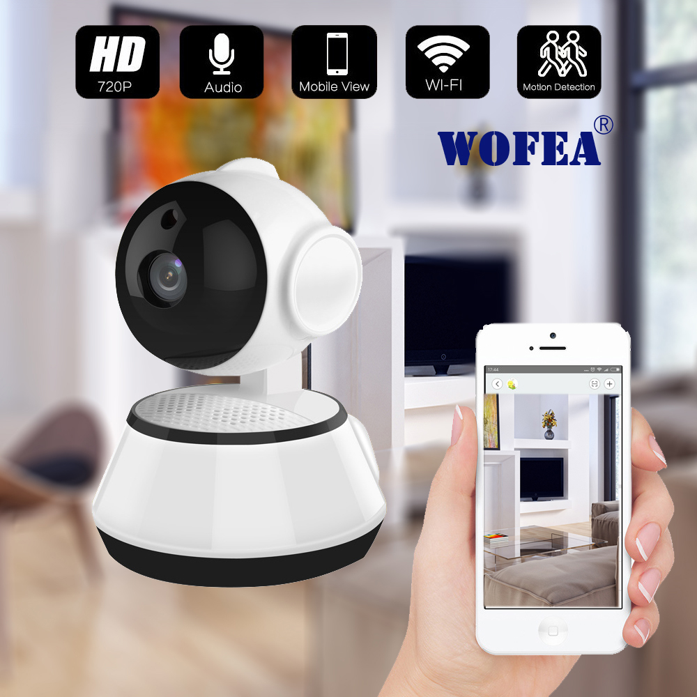 WOFEA Home Security IP Camera Wireless Smart WiFi Camera WI-FI Audio Record Surveillance Baby Monitor HD Mini CCTV Camera ICSee