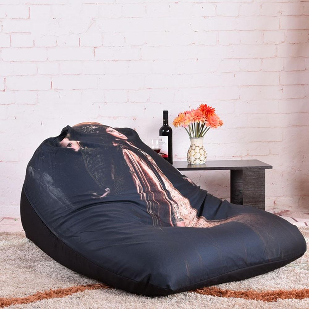 LEVMOON Beanbag Sofa Chair Wind Queen Seat Zac Bean Bag Bed Cover
