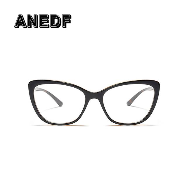 ANEDF Cat Eye Oval Glasses Frames Women Optical Fashion Computer Glasses Eyewear  Frames AF185