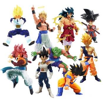 Scultures BIG 7 Figura Dragon ball Z Super Saiyan Goku Gohan Vegeta Piccolo Broly Gogeta Ação PVC Figures Modelo bonecas Brinquedos
