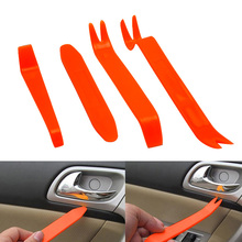 4PCS Orange Car Audio Disassembly Tool Plastic Rugged Durable Removal Kit for Accessories