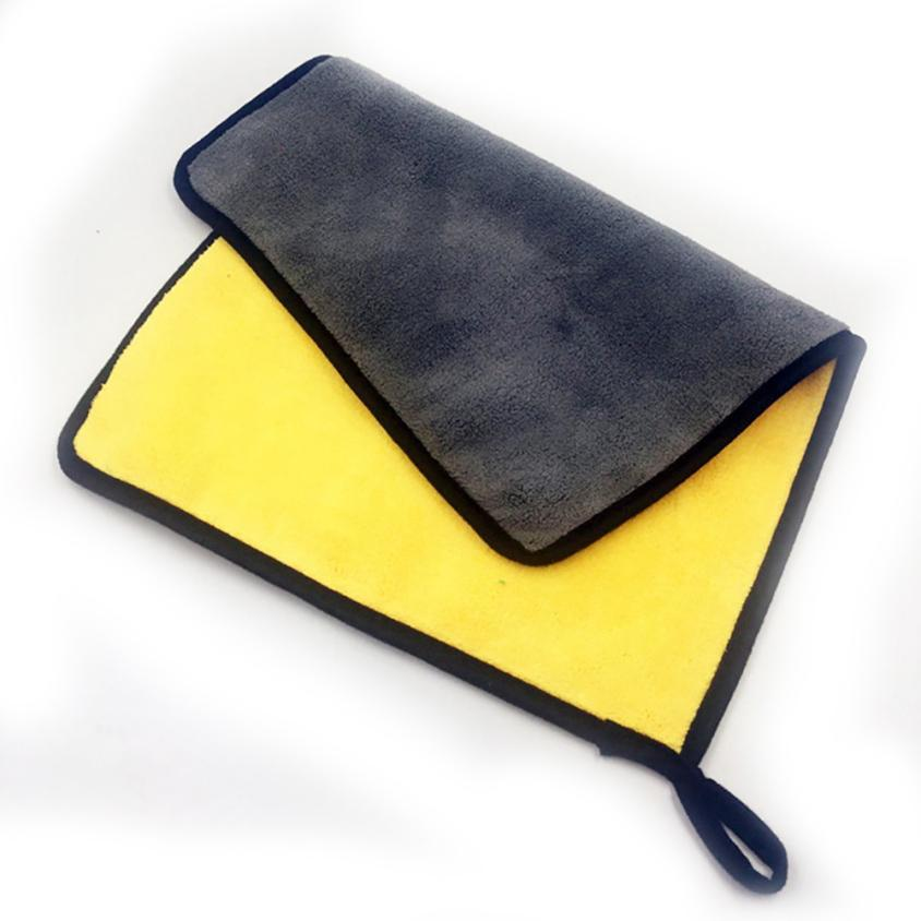 Yellow-Car-Cleaning-Brush-30x40cm-Absorbent-Car-Wash-Coral-Velvet-Towel-Cleaning-Drying-Cloth