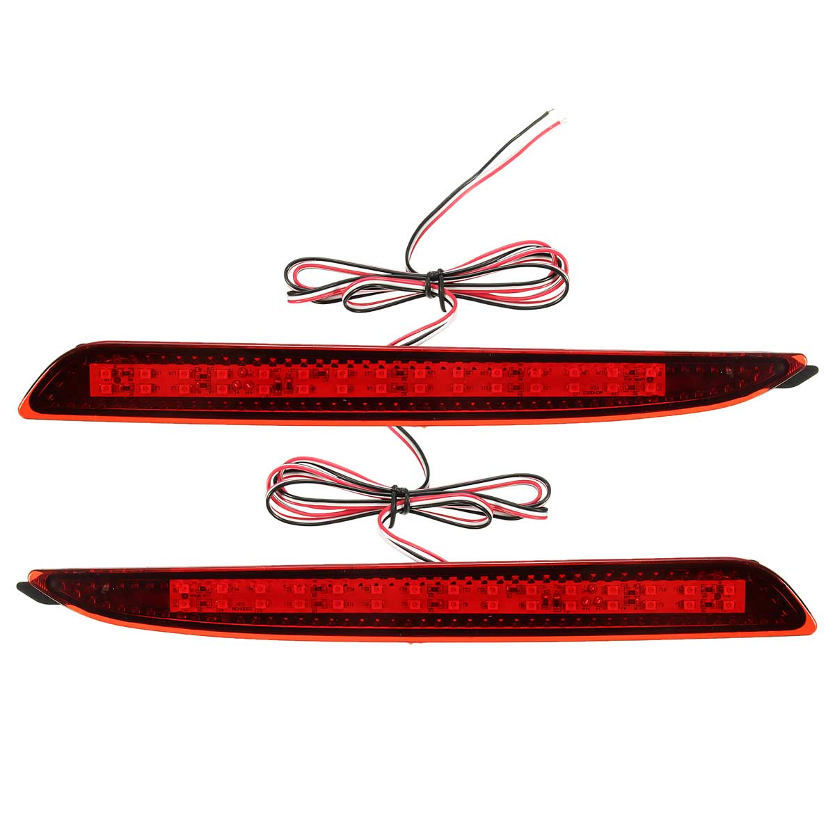 2 Pcs Red LED Rear Bumper Reflector Brake Lights Parking Warning For Mazda 3 2010 2011 2012 2013 2014 2015 dongzhen fit for nissan bluebird sylphy almera led red rear bumper reflectors light night running brake warning lights lamp