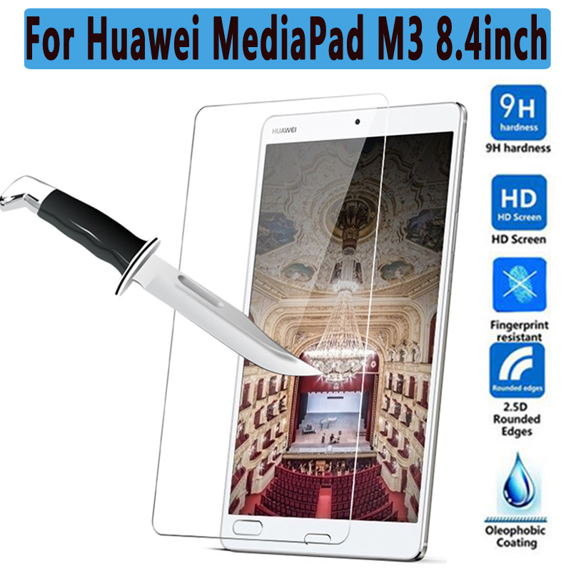 Ultra Thin HD Clear Explosion-proof Tempered Glass for Huawei MediaPad M3 8.4 Screen Protector Guard Film for Huawei MediaPad M3 screen protector for huawei y7 prime high clear premium tempered glass