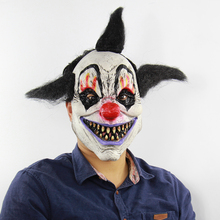 Latex Maske Man Scary Clown Mask Full Head Breathable Mascaras Halloween Cosplay Masquerade Adult Masks Party Horror