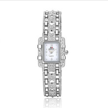 New Fashion Luxury Silver Rhinestone Watches Women Dress