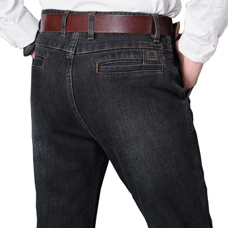 Automne Hiver Cowboy Denim Pantalon Hommes Smart Casual Jeans Coton Lâche Baggy Extensible Pantalon Nouveau Mode Masculine Vêtements