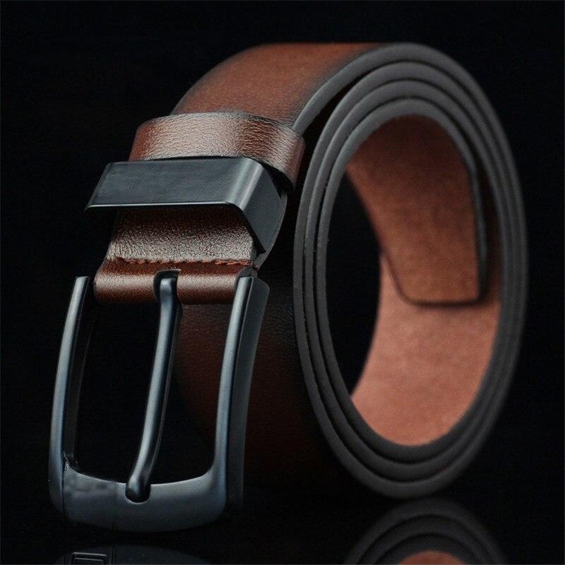 Cinturones de cuero de marca de alta calidad para hombre, cinturones informales de lujo para hombre de negocios