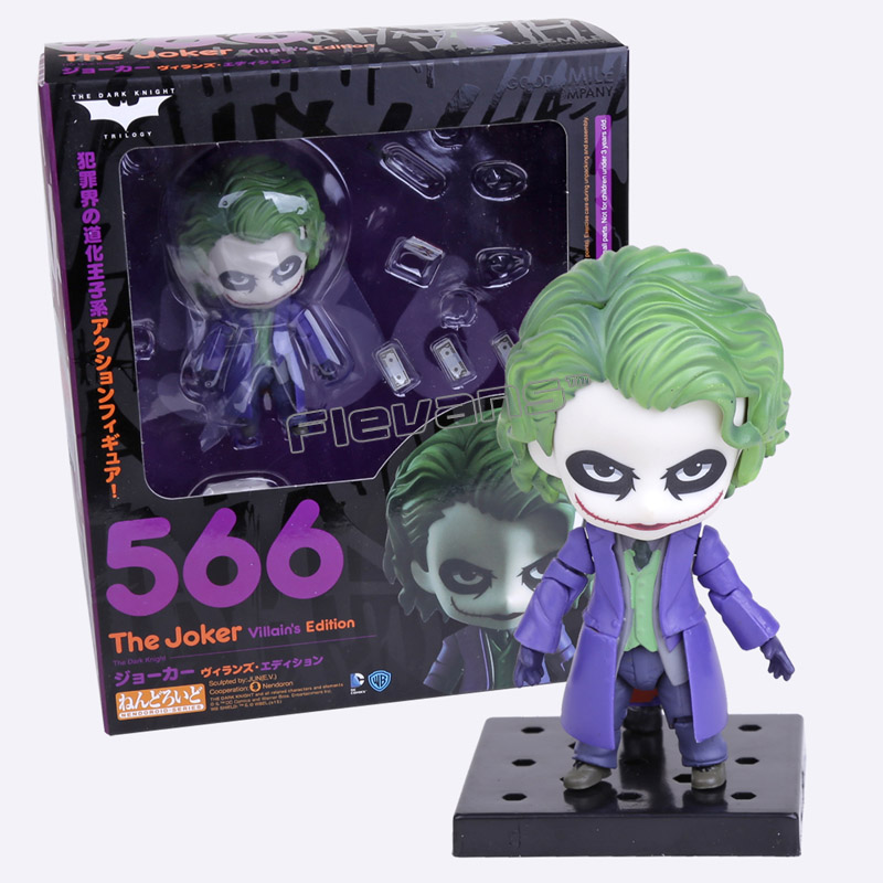 Nendoroid Batman The Dark Night The Joker Villains Edition #566 PVC Action Figure Toy Doll 4 10cm