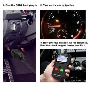 Image 3 - OBD2 Automotive Scanner KW590 OBDII Code Reader Car Diagnostic Tool Turn Off Engine Light Free Update Car Code Reader PK ELM327