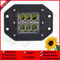 12 voltios luces led para automóviles 18 W montaje empotrado llevó luces de trabajo para coche 6 unids * 3 w led empotrada de la lámpara 3x3 pod led flush mount lámparas