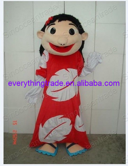 Hot sale 2017 Cartoon Character cute Lilo of Lilo and Stitch Adult Mascot Costume fancy dress costume-in Mascot from Novelty u0026 Special Use on Aliexpress.com ... & Hot sale 2017 Cartoon Character cute Lilo of Lilo and Stitch Adult ...
