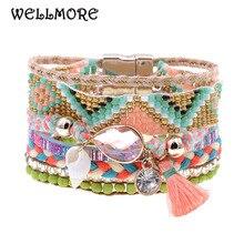 WELLMORE women bracelets Leather bracelets