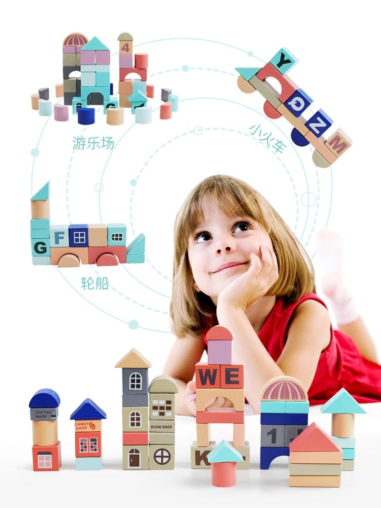 Муравей детские строительные блоки сборные игрушки От 1 до 2 лет Детские большие деревянные От 3 до 6 лет игра головоломка для мальчиков и дев... - 2