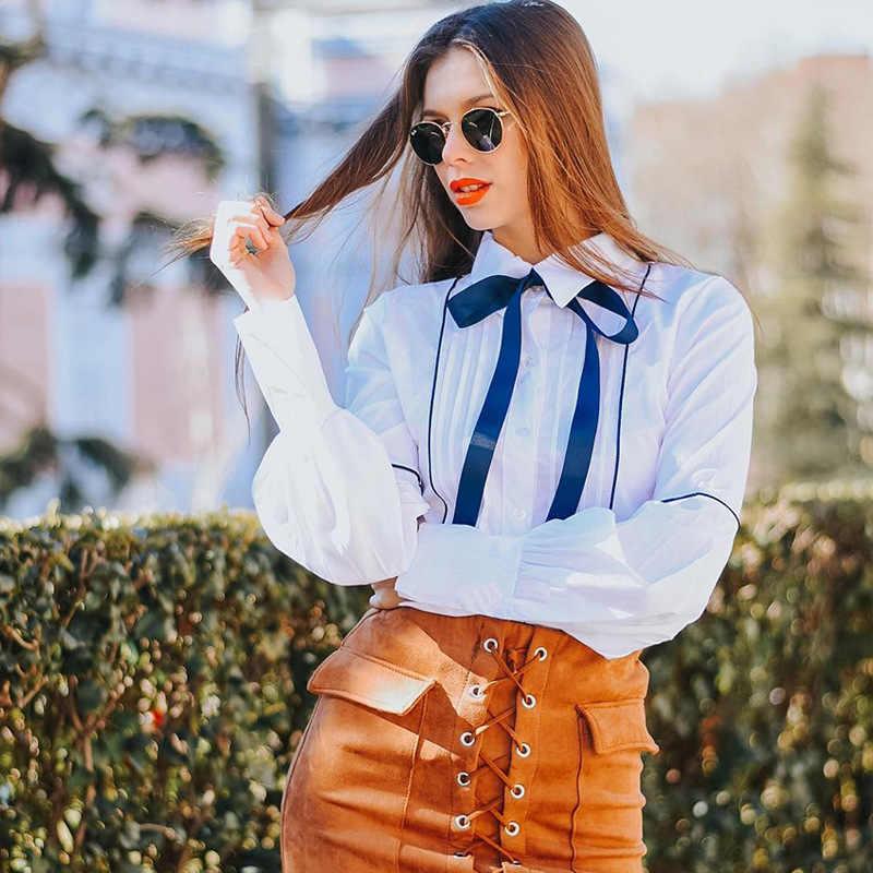 Vadim poliester bawełna brak suknem pełna oferta specjalna kobiety bluzki bluzka 2019 Plus Size koreański darmowa wysyłka nowa koszula kobiety