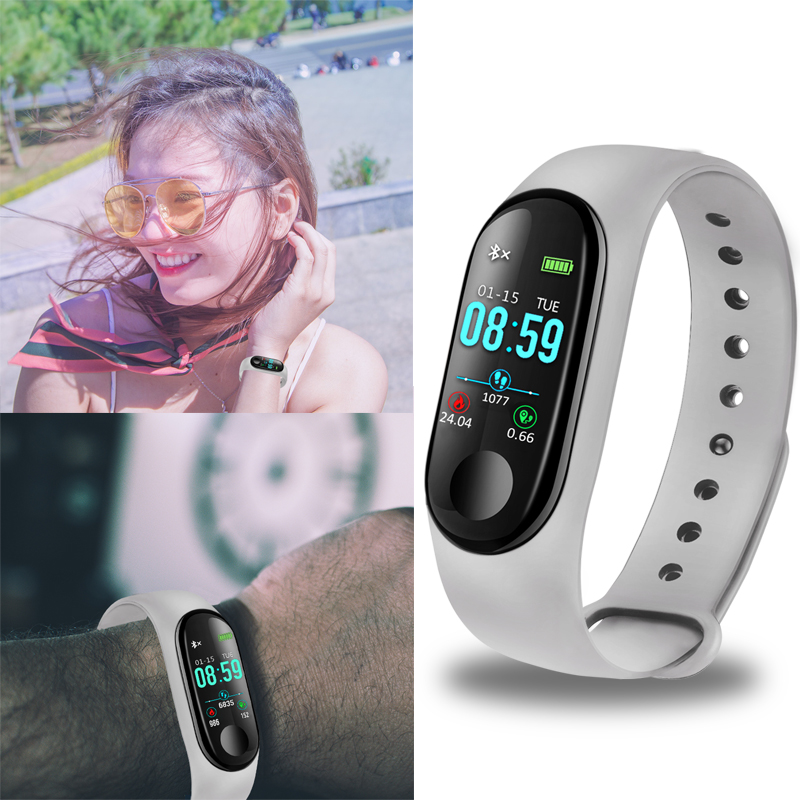 BANGWEI 2018 Smart Bracelet Ladies Sport Waterproof Fitness Watch Blood Pressure Heart Rate Monitor Pedometer Smartbracelet Box in Smart Wristbands from Consumer Electronics