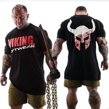 VIKING 2019 New Brand clothing Gyms Tight t-shirt mens fitness homme t shirt men Summer tops