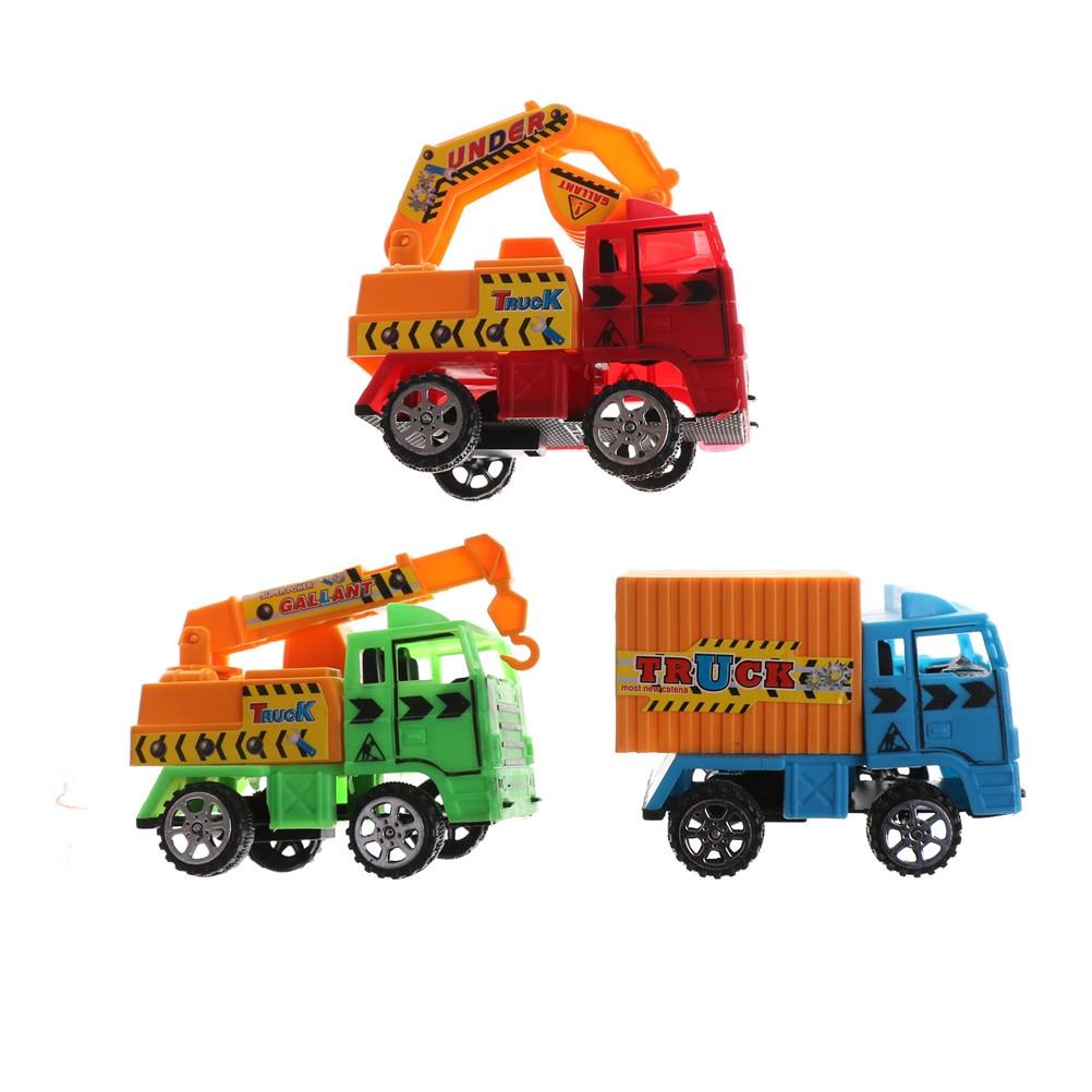 Mini Inertial Truck Excavator Cement Mixer Education Children Kids Toy Car Mixed Color Mini Intertia Contruction Digger