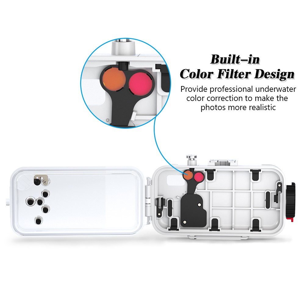 SeaFrogs 60m 195ft Waterproof Underwater Housing Case for iPhone X White in Camera Video Bags from Consumer Electronics