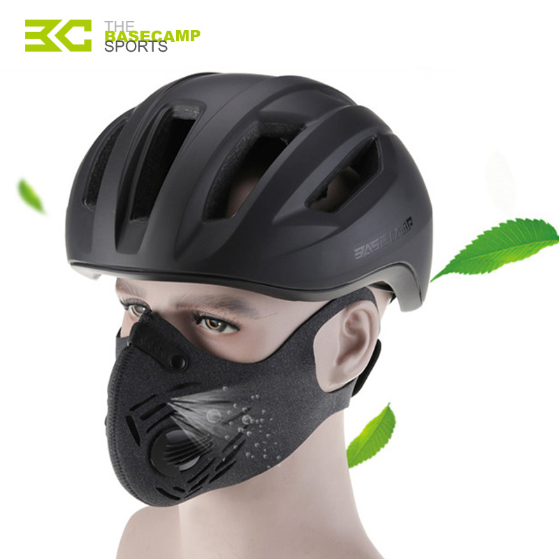 BASECAMP Cycling Mask Activated Carbon Bicycle Masks Anti-Pollution Bike Running Training Masks Dustproof Sport Face Cover