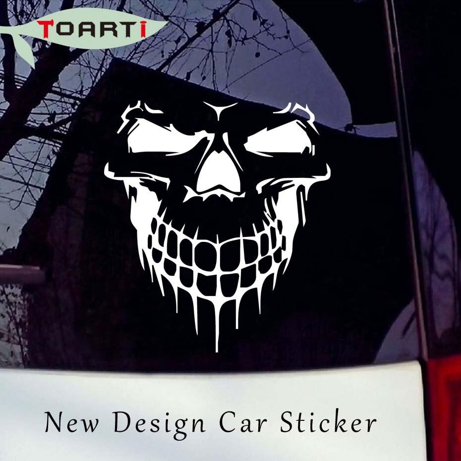 59*53m Smiling Skull Car Sticker Vinyl Adhesive Large Graphic Styling Window Decoration