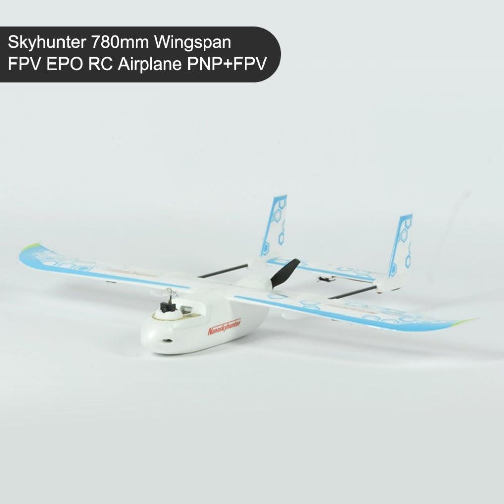 SONICMODELL Skyhunter 780mm Wingspan FPV EPO RC Airplane PNP+FPV AIO Camera & 5.8G 200mW Vtx Detachable Quick-Release Structure fpv x uav talon uav 1720mm fpv plane gray white version flying glider epo modle rc model airplane