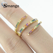 5Pieces,Women Fashion Jewelry,The Rainbow Series THREE CIRCLES Rings,Gold Colors Can Wholesale