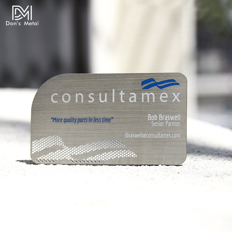 Brushed Stainless Steel Business Metal Card Personality Hollow Metal Card Custom Metal Membership Card Design And Production