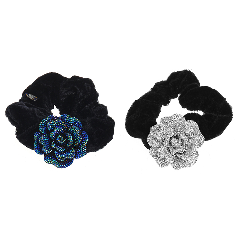 Women Hairwear Elegant Hair Accessories Fashion Big Rose Flower Cloth headband Hair Rope Hair Band Accessories wy0035