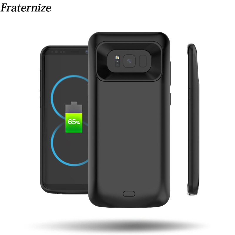 For Samsung Galaxy S8 Plus Shockproof Battery Charger Case S8 External Power Bank Rechargeable Full Protection Charging Case