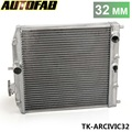 AUTOFAB-Peso Leve 1Row Carro Radiador De Alumínio de Corrida Para Honda Civic EK EG DEl Sol Manual de 92-00 TK-ARCIVIC32