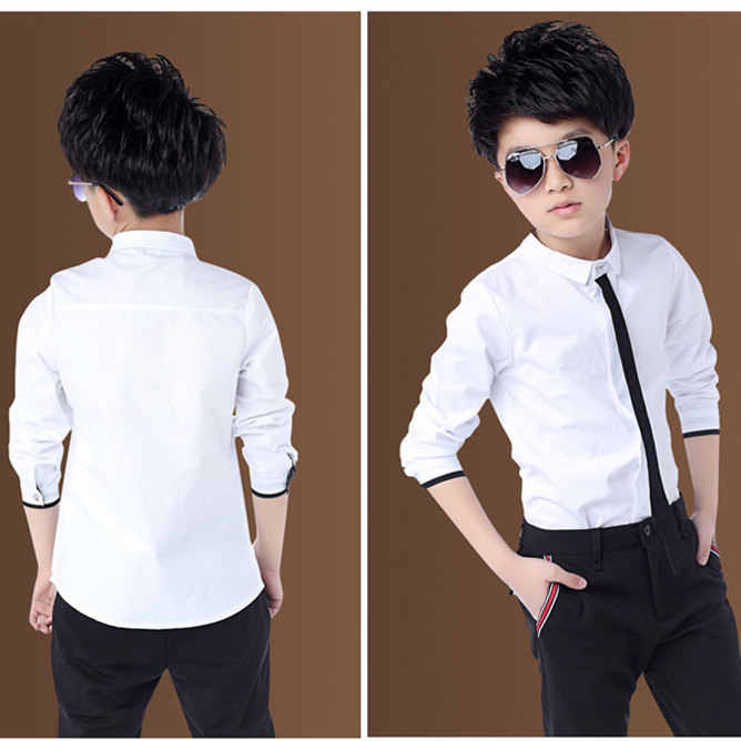 New Big Boys Wedding Shirts with Necktie Teenage Boys Formal Black White  Red Formal Shirts Children School Blouses Tops Clothes Shirts  - AliExpress