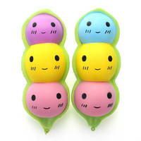 10Pcs Lot Cute Squishy Original Bean Jumbo Face Pea Slow Rising Pendant Phone Strap Soft Squeeze
