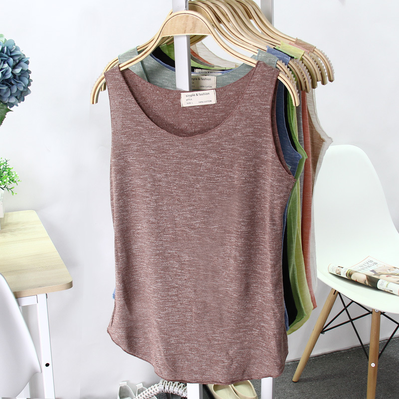 2016 Spring Summer New Sexy Tank Top Women Sleeveless Multicolor Round Neck Bralette Loose T Shirt Ladies Vest Singlets 3BX005