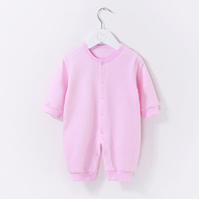 цена на YiErYing Baby Rompers Clothes Long Sleeved Boy and Girl 100% Cotton Baby Clothing Pure Colour Autumn Winter Newborns Jumpsuits