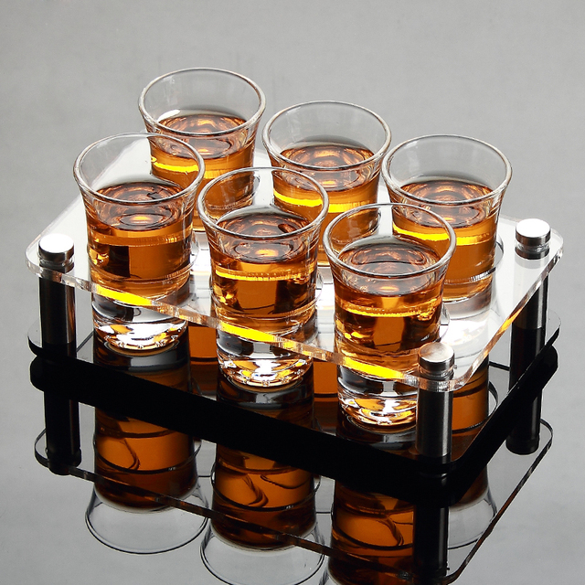 Shot Glass Set With Cup Holder Shelf