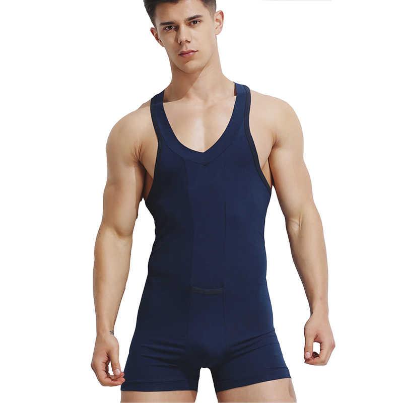 3da40cbfcf Detail Feedback Questions about KWAN.Z men s bodysuit shaper tights ...