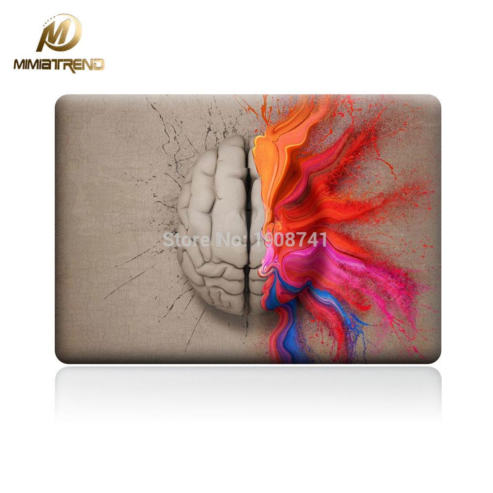 Mimiatrend lewy i prawy Laptop mózgu Naklejka naklejka na Apple - Akcesoria do laptopów - Zdjęcie 1