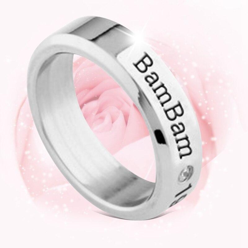 Original Youpop Kpop Got7 Fly Hard Carry Jb Mark Jr Album Ring K-pop Jewelry Rings Accessories For Men And Women Female Male Boy Girl Engagement Rings