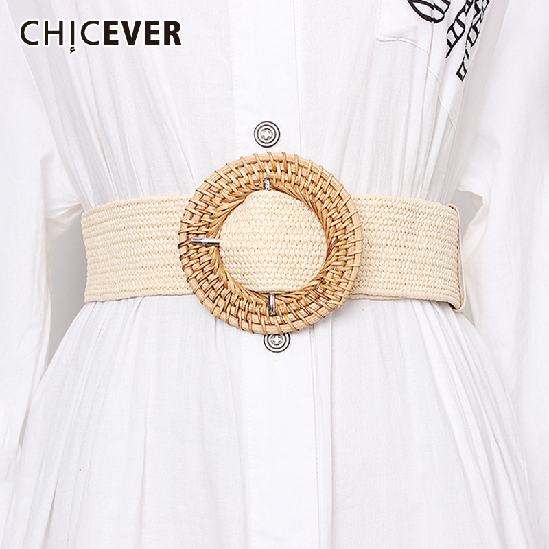 CHICEVER Vintage Dresses Accessories Fashion New Tide Solid Widely Belts For Women Casual 2019 Summer