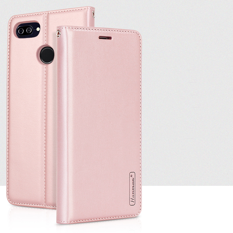 Hanman for ASUS Zenfone Max Plus ZB570TL Luxury Book Style Leather Wallet Case Silicon Back Cover with Magnetic Close Card Slot