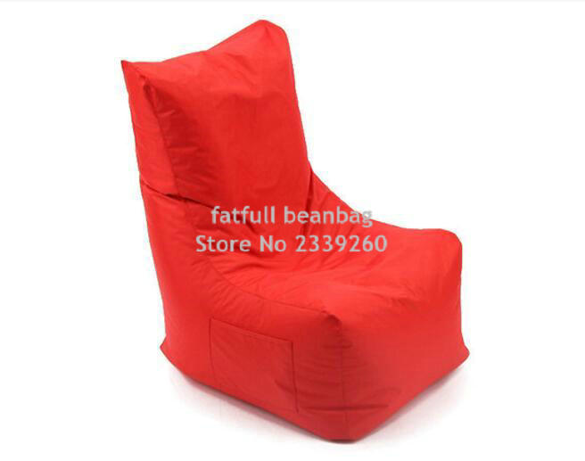 COVER ONLY , No Filler   Red Bean Bag Cover L Back Support Shape Waterproof  Beanbag