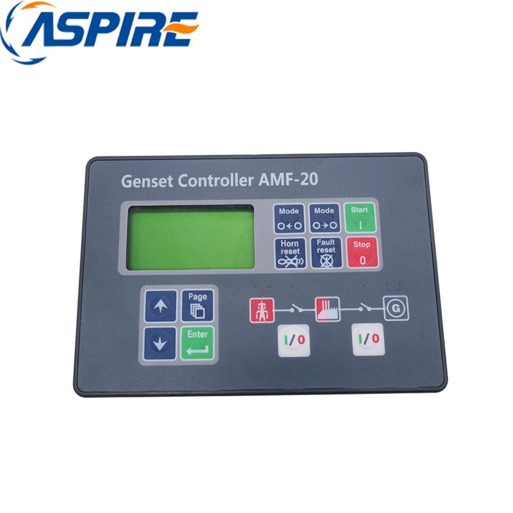 Genset Generator Auto Start Control Unit AMF20, Generator Automatic Control Panel AMF20Genset Generator Auto Start Control Unit AMF20, Generator Automatic Control Panel AMF20
