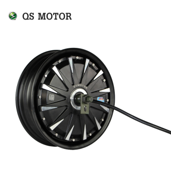 QS 12inch 260 3000w V1 70kmh fast speed electric in wheel moped hub motor for scooter high end 105l 500w rubber dual wheel hub in motor for electric scooter skateboard outdoor fun sports