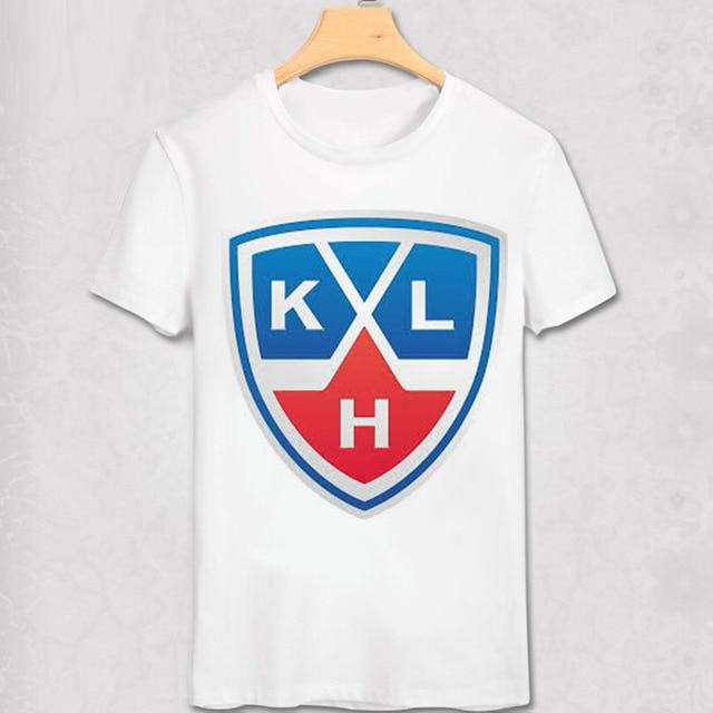 KHL League T Shirt Lokomotiv Yaroslavl Ak Bars Kazan Dinamo Riga Moscow Club Team Logo Print T-shirt Soft shirt