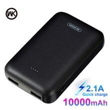 Semana 2.1A Mini Delgado banco de potencia 10000 mAh 18650 Powerbank Mini Poverbank fuente de alimentación de batería externa accesorios del teléfono para Xiaomi