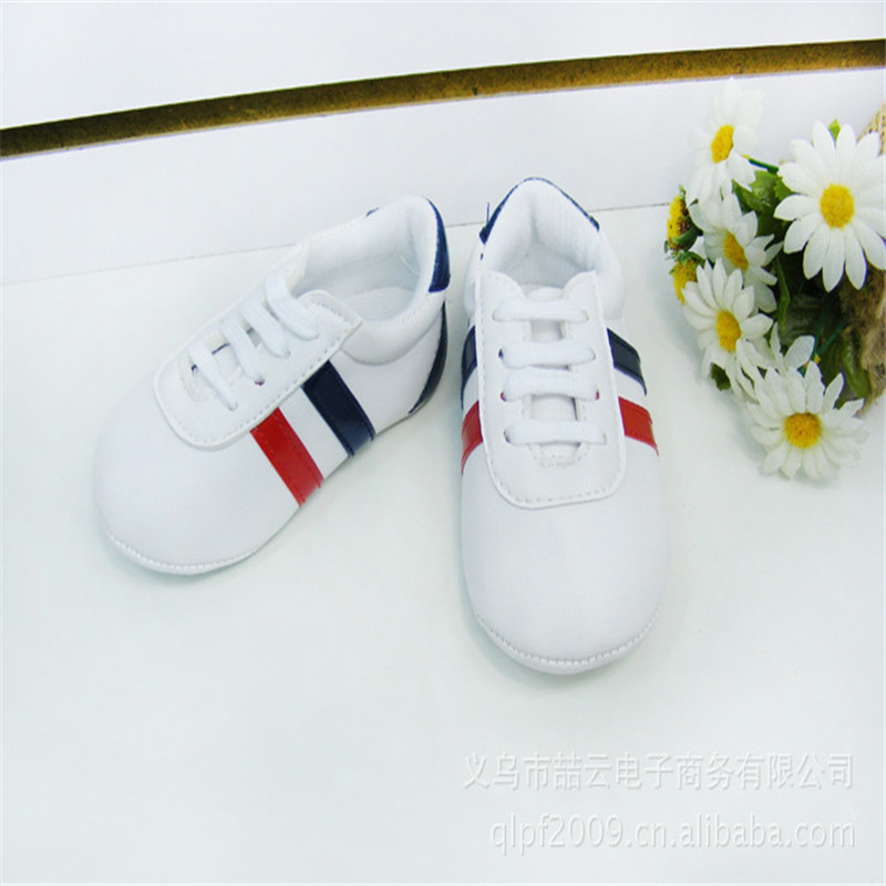 PU Leather Anti-slip Shoes Toddler Sneakers 0-12M Kids Shoes Bebe Baby Boys Girls Soft Sole Crib Shoes